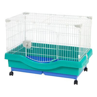Mobile Wire Animal Cage with Casters