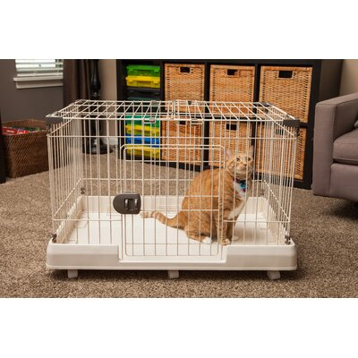 Portable Wire Animal Cage Size: 23.74 H  x 36.01 W x 25.04 L