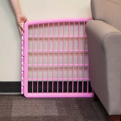 Indoor/Outdoor Plastic Pet Pen Color: Pink