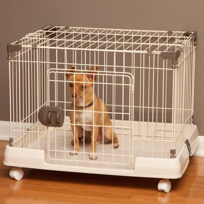 Portable Wire Animal Cage Size: 21.18 H x 26.85W x 20.59 L