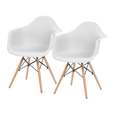 Shell Side Side Chair Upholstery: White