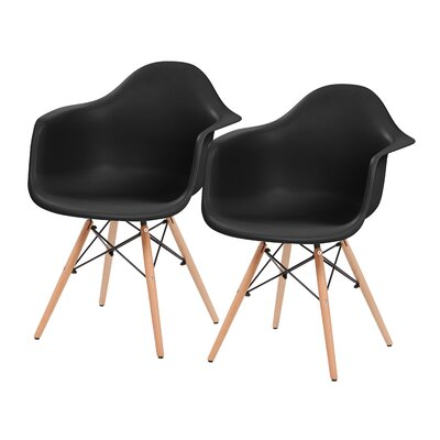 Shell Armchair Upholstery: Black