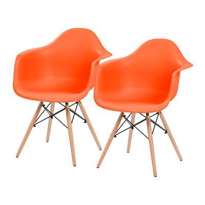 Shell Armchair Upholstery: Orange