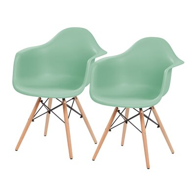 Shell Armchair Upholstery: Light Green