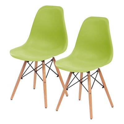 Shell Side Chair Upholstery: Green