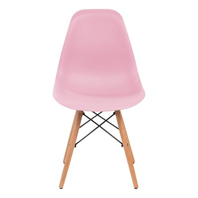 Shell Side Chair Upholstery: Pink