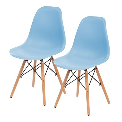 Shell Side Chair Upholstery: Blue