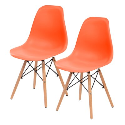 Shell Side Chair Upholstery: Orange