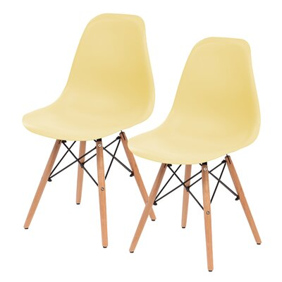 Shell Side Chair Upholstery: Yellow