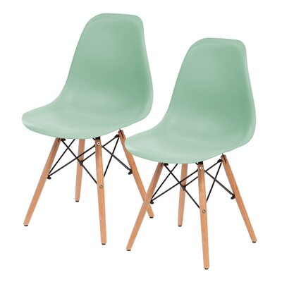 Shell Side Chair Upholstery: Light Green