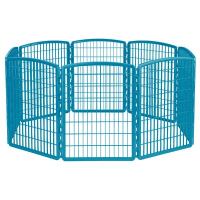 8 Panel Plastic Pet Pen Color: Blue