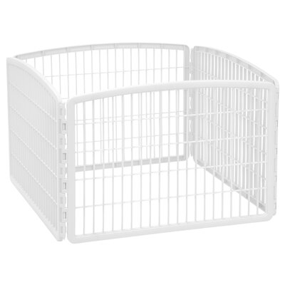 4-Panel Plastic Pet Pen Color: White