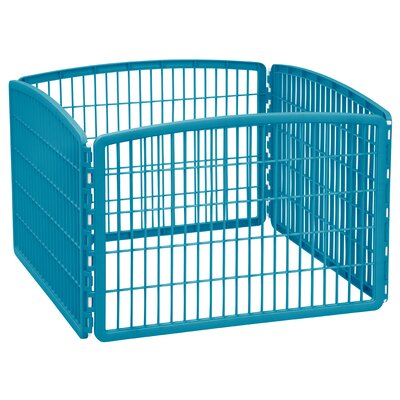 4-Panel Plastic Pet Pen Color: Blue