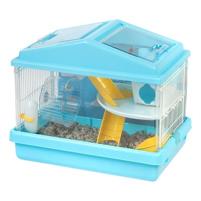 2-Tier Mouse Hamster Cage Color: Blue