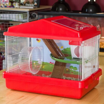2-Tier Mouse Hamster Cage Color: Red