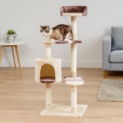 55 Tier Plush Cat Tree
