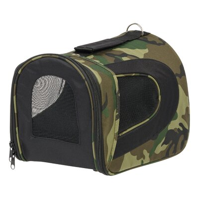 Small Soft Pet Carrier Color: Camo, Size: 9.05 H x 9.05 W x 13.7 D