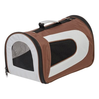 Small Soft Pet Carrier Color: Brown, Size: 9.05 H x 9.8 W x 16.9 D