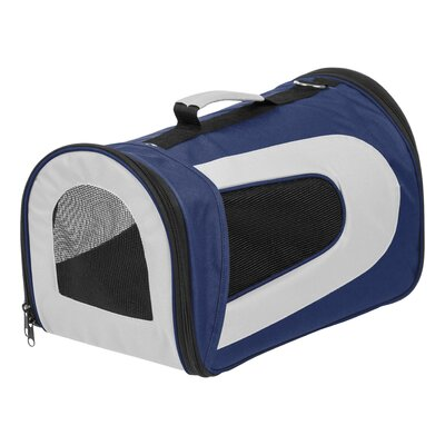 Small Soft Pet Carrier Color: Navy, Size: 9.05 H x 9.8 W x 16.9 D