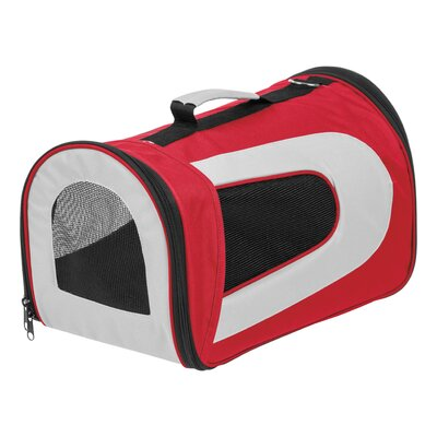 Small Soft Pet Carrier Color: Red, Size: 9.05 H x 9.8 W x 16.9 D