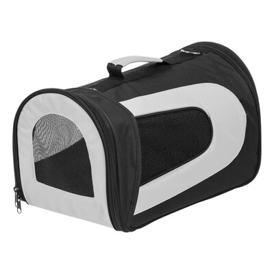 Small Soft Pet Carrier Color: Black, Size: 9.05 H x 9.8 W x 16.9 D