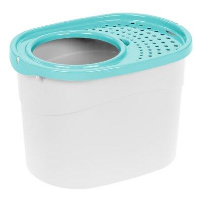 Standard Litter Box Color: White/Seafoam