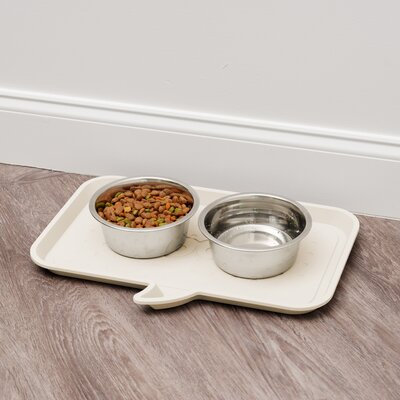 Woof Feeding Mat Size: Large, Color: Ivory