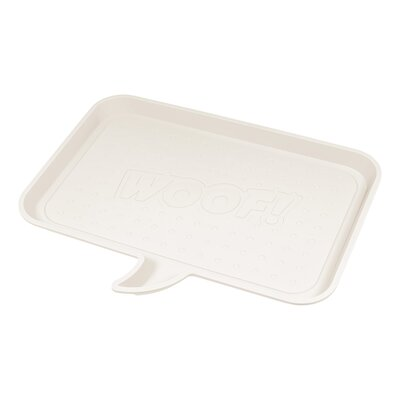 Woof Feeding Mat Size: Medium, Color: Ivory
