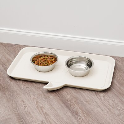 Feed Me Feeding Mat Size: Small, Color: Ivory