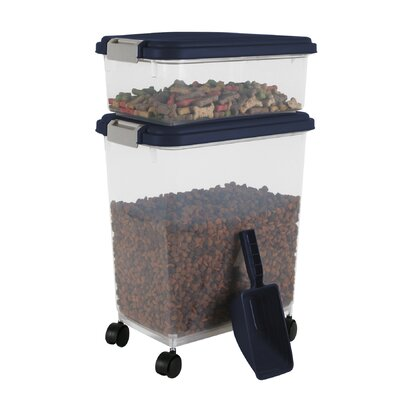 Iris Airtight Pet Food Storage Container Combo - Color: Navy at Sears.com