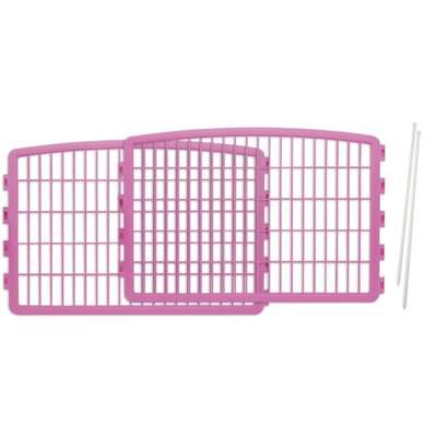Expansion Kit for Indoor/Outdoor Plastic Pet Pen Color: Pink