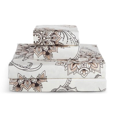 Quality Henna Tattoo 300 Thread Count Sheet Set Size California King