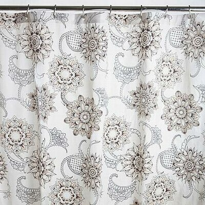 Henna Tattoo Cotton Shower Curtain