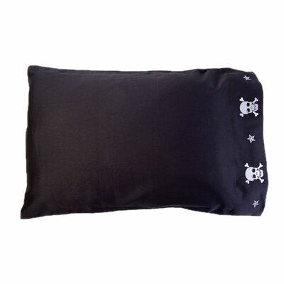 Jolly Roger Skulls Pillowcase Size: Standard