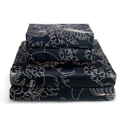 Geisha Moon 300 Thread Count Sheet Set Size: Full