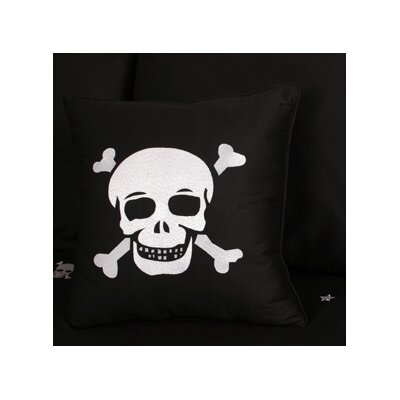 Jolly Roger Skulls Cotton Throw Pillow