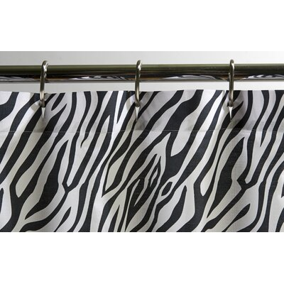 Zebra Cotton Shower Curtain
