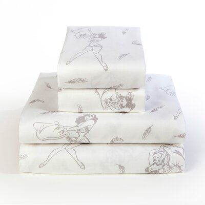 Pillow Fight 300 Thread Count 100% Cotton Sheet Set Size: Full