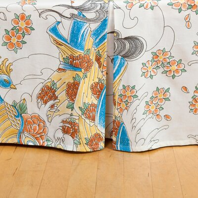 Geisha Garden Tattoo Bed Skirt Size: Queen