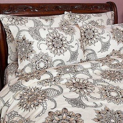 Henna Tattoo Duvet Cover Size: Full / Queen