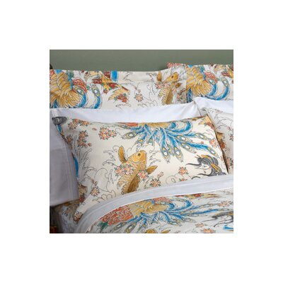 Geisha Garden Peacock Pillowcase Size: King
