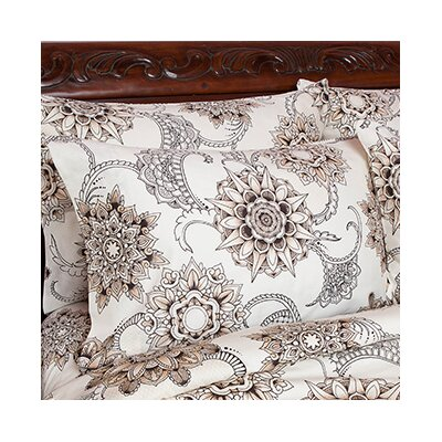 Henna Tattoo Pillowcase Size: Standard