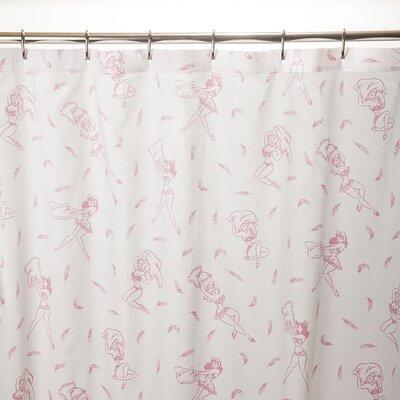 Pillow Fight 100% Cotton Shower Curtain 047P-SHOW