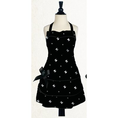 Skull And Crossbones Apron In Black And White
