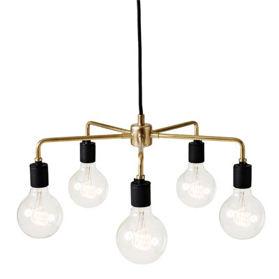 Tribeca Leonard 5-Light Sputnik Chandelier Finish: Brass
