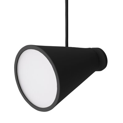 Bollard 1-Light Pendant Color: Black