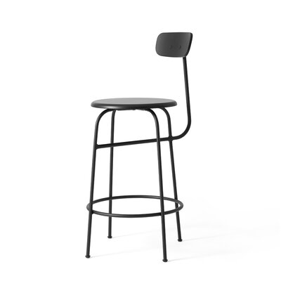 Afteroom 29.25 Bar Stool Upholstery: Black