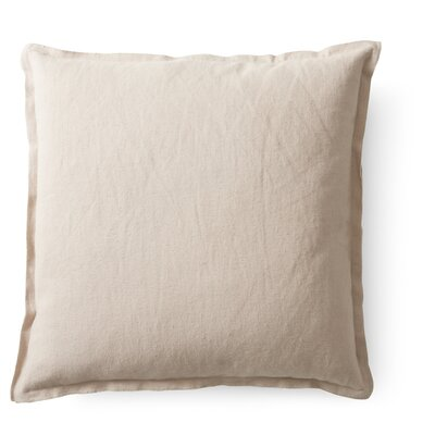 Raw Throw Pillow Color: Nude 5240360