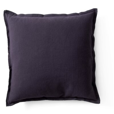 Raw Throw Pillow Color: Aubergine
