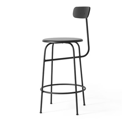 25.5 inch Bar Stool Upholstery: Black